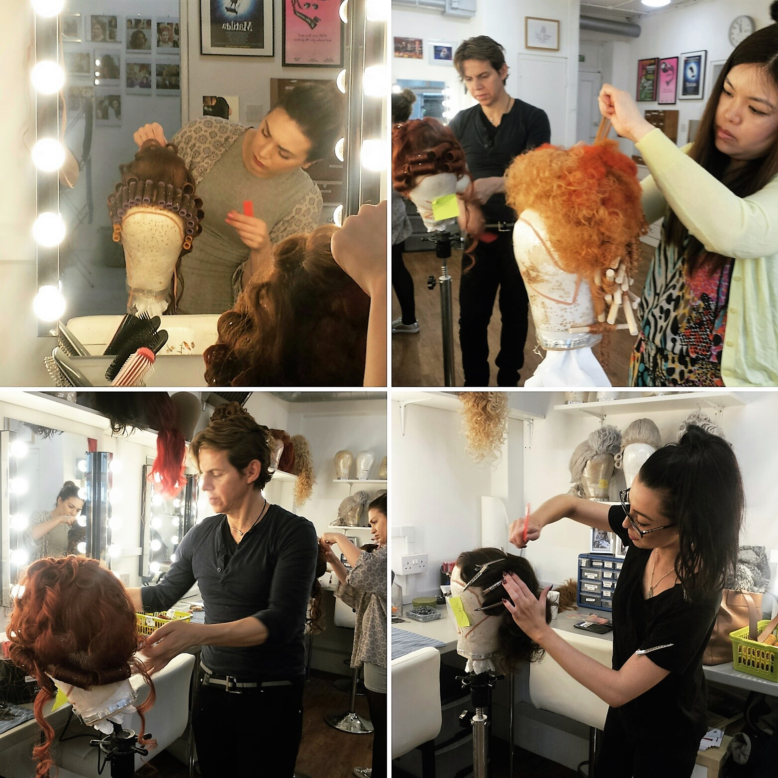 The Wig Room Training Academy - Students at work