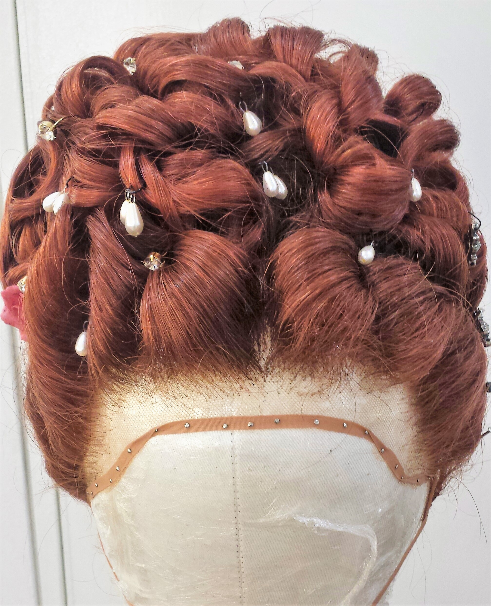 The Wig Room Training Academy - Victorian Red Hair Wig with Pearls